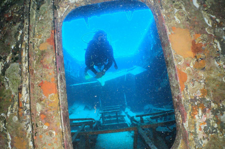Wreck Dive | SG11 Shipwreck is a retired coastguard patrol ship | Bodrum