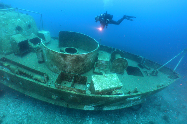 wreck dive in Bodrum with Aquapro