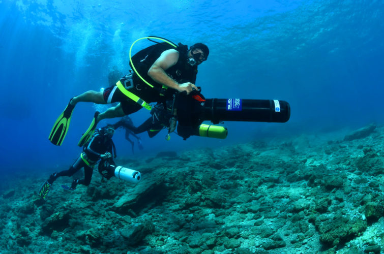 Diver propulsion vehicle (DPV) speciality dive course with Aquapro-turkey | Bitez | Bodrum