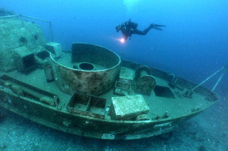 shipwreck dive site Bodrum